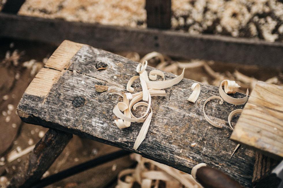 Holzspäne der Schreinerei Michels