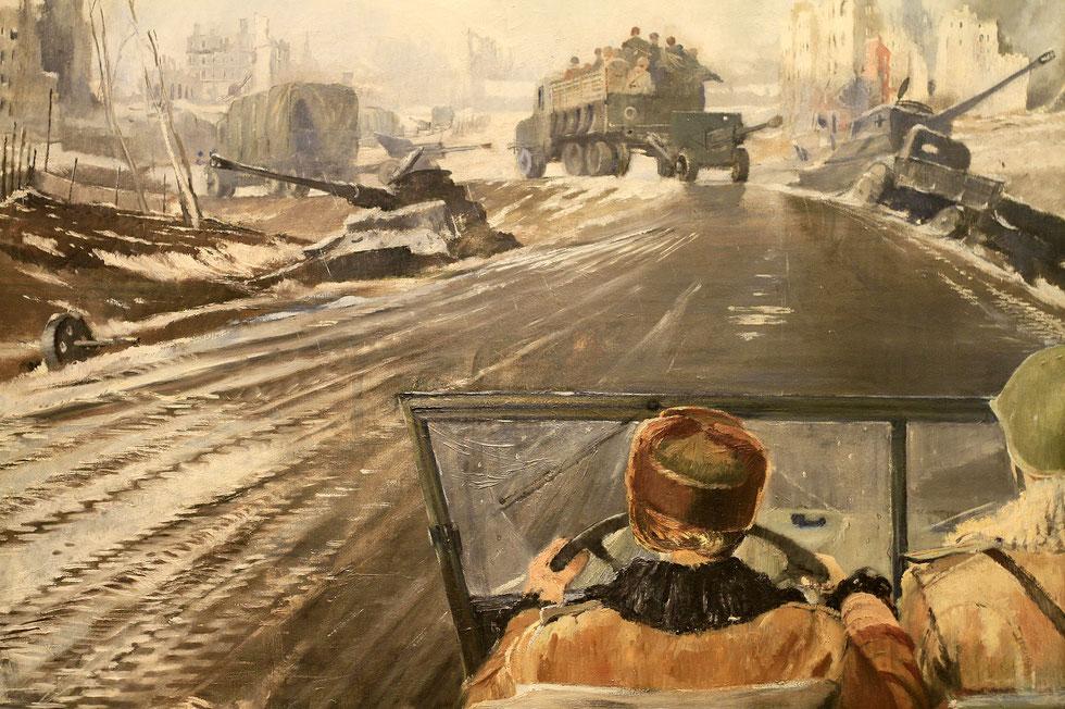 Musée russe. Front-Line Road. Youri Pimenov.