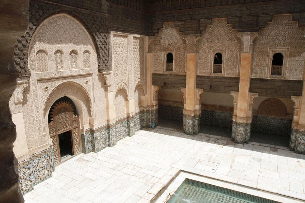 Medersa Ben Youssef. Ecole coranique. Marrakech.