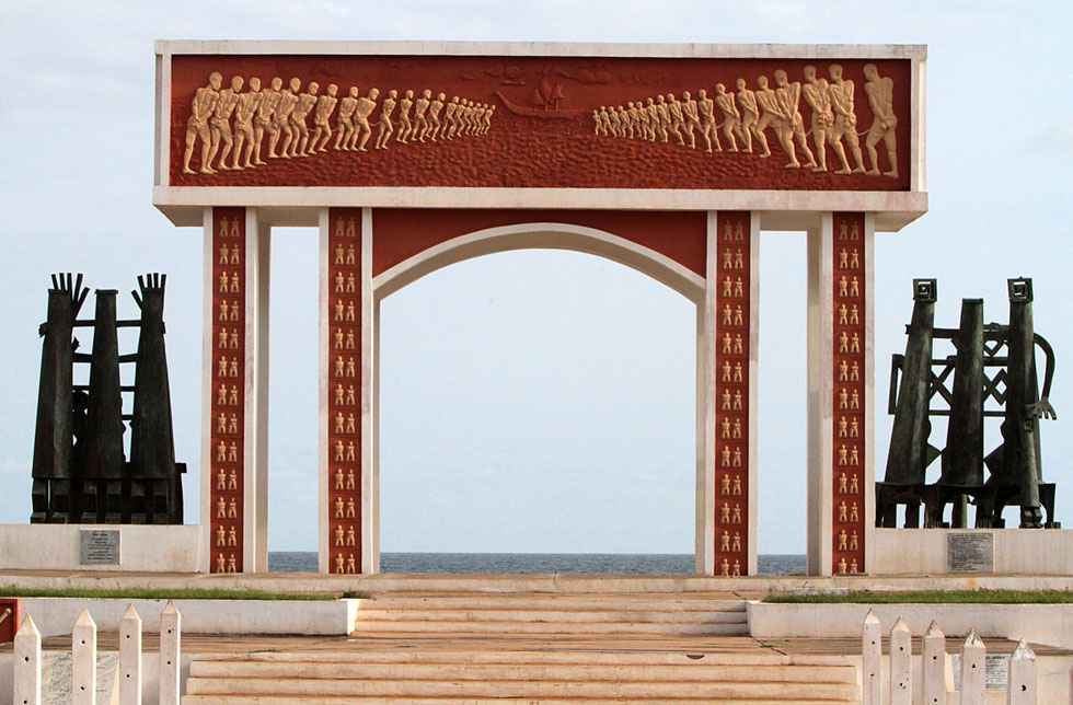 The Door of No Return on the Slave Route in Ouidah.