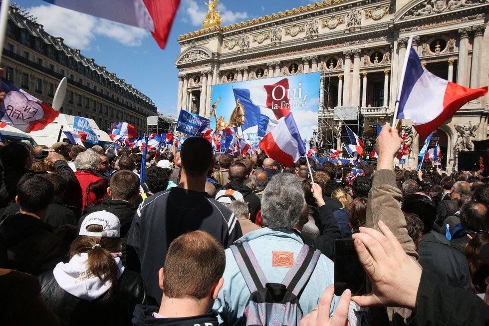 Discours de Marine Le Pen. Place de l'Opéra. 1er mai 2012.