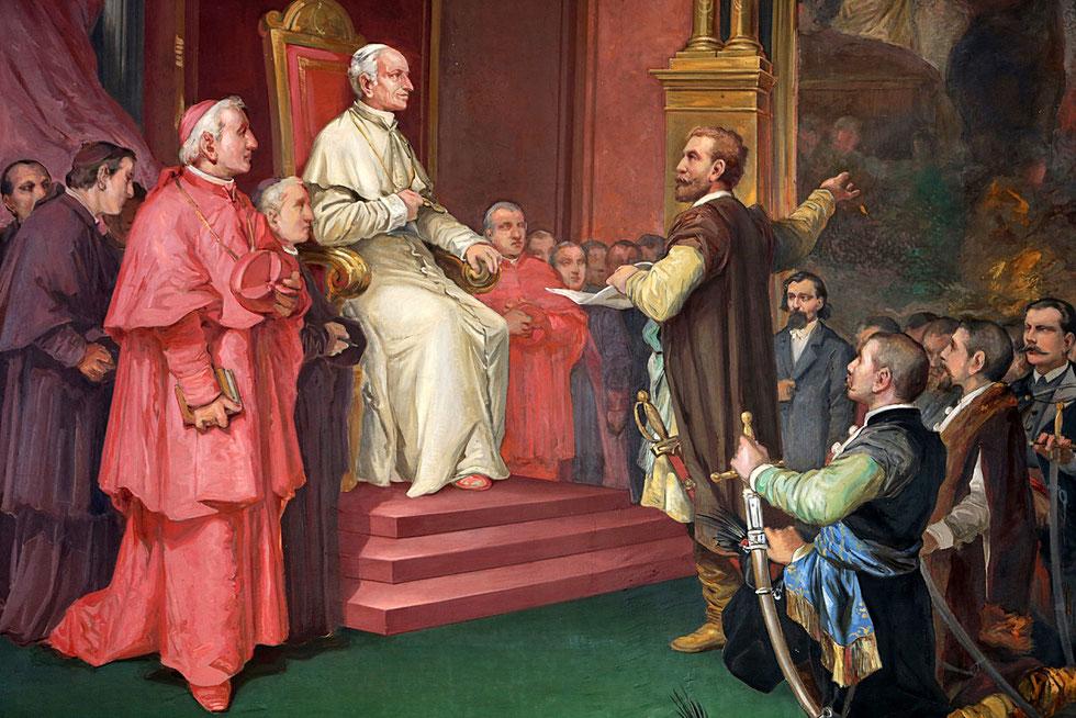 Pope Leo XIII. Vatican Museum. Roma.