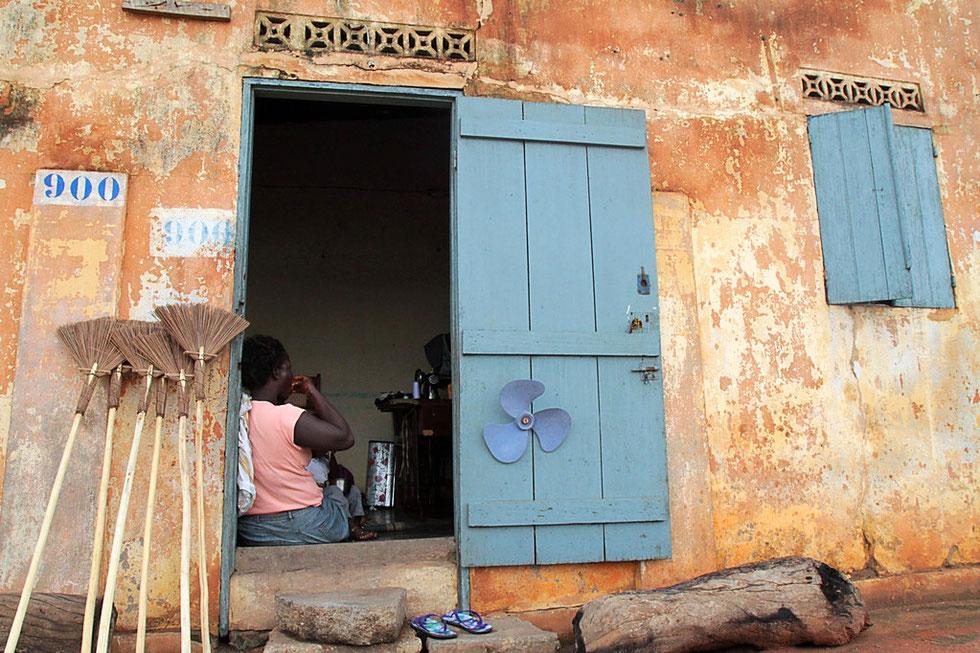 Habitation togolaise. Lomé. Togo.