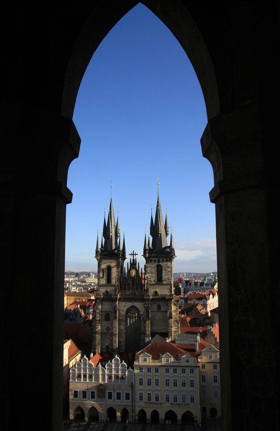 Eglise Notre-Dame de Tyn. Place de la Vieille Ville. Prague.