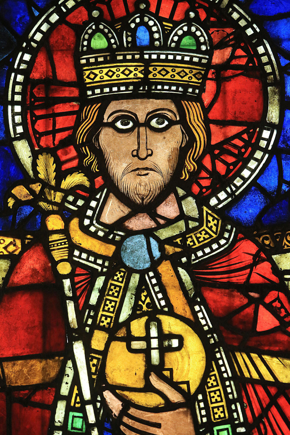 Emperor Majesty. (Henry II or Charlemagne). Last quarter of the twelfth century. Oeuvre Notre Dame Museum in Strasbourg.