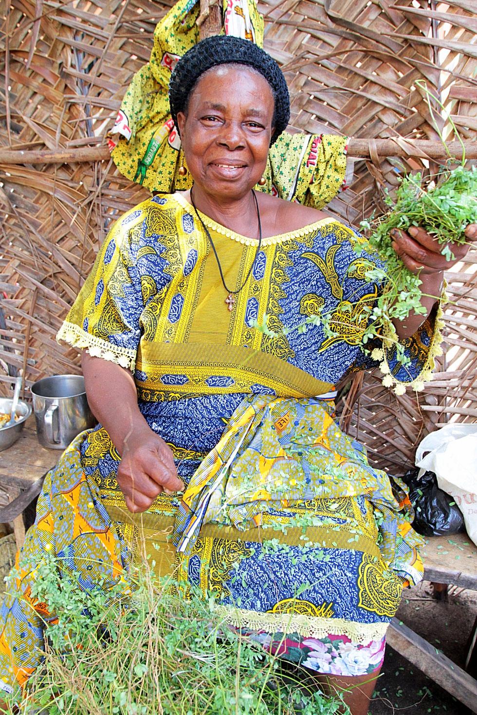 Pharmacopée traditionnelle. Herbes médicinales. Lomé. Togo.