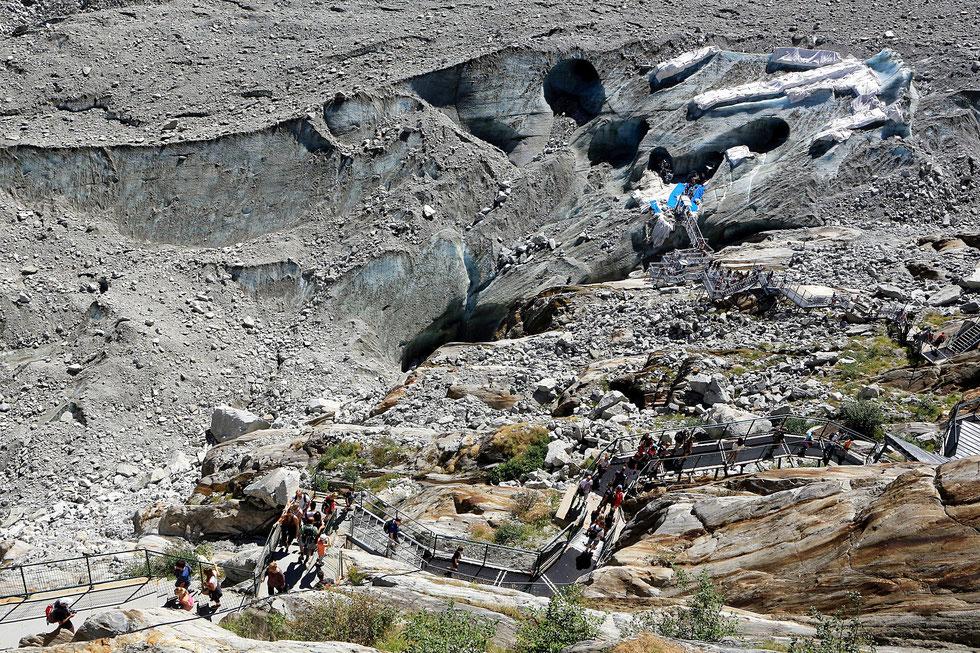 Grotte de Glace. Glacier de la Mer de Glace. Massif du Mont-Blanc. Montenvert. Chamonix Mont-Blanc. Haute-Savoie.