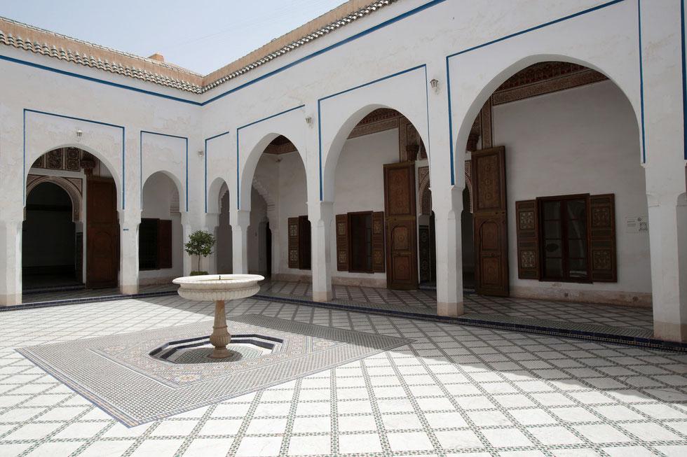 Le palais Bahia. Marrakech.