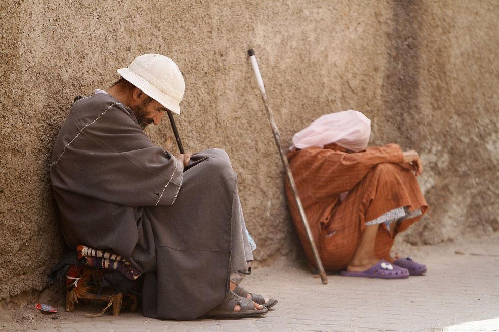 Couple de mendiants. Marrakech.