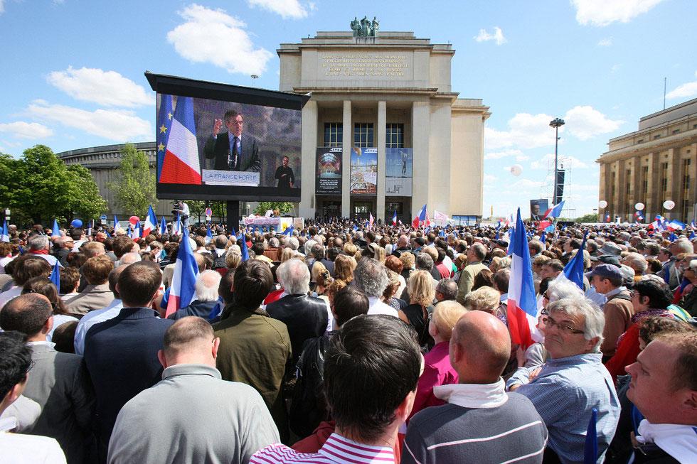 Discours de Nicolas Sarkozy. Trocadéro. 1er mai 2012.