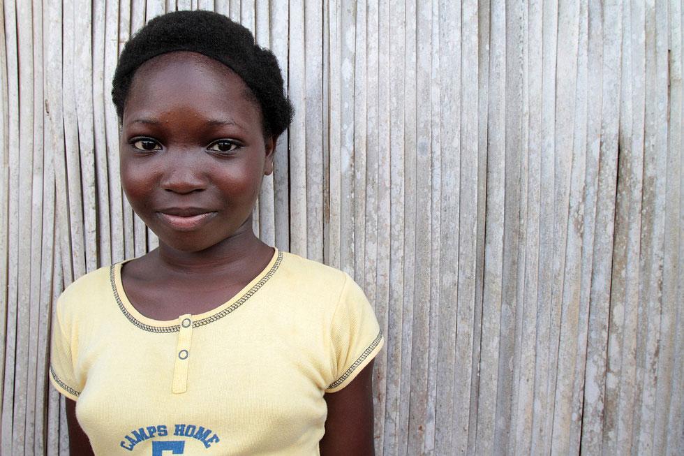 Portrait of an African schoolgirl recreation. Ouidah.