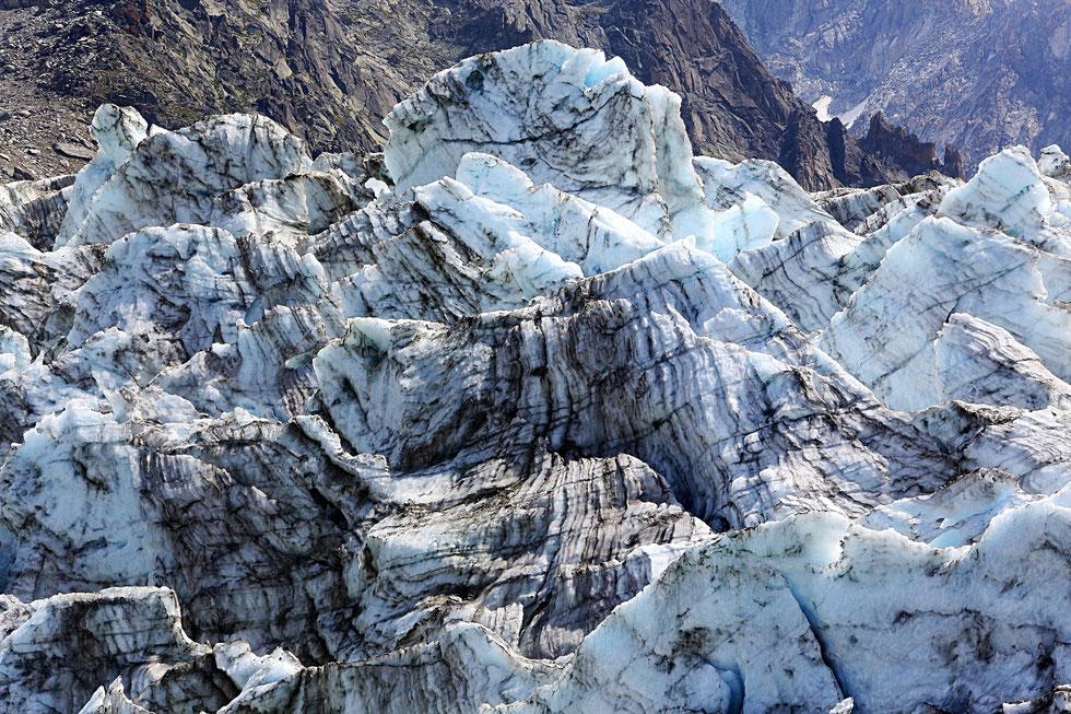 Glacier d'Argentière. Argentière. Chamonix Mont-Blanc. Haute-Savoie.