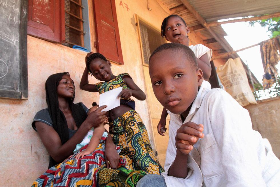 Famille togolaise. Lomé. Togo.