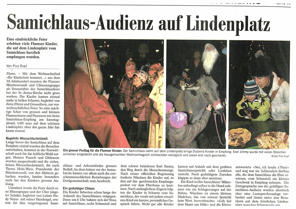 Samichlaus-Einzug 2012