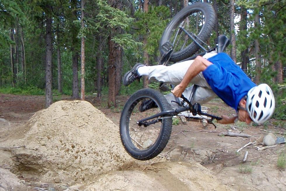 chute en fatbike