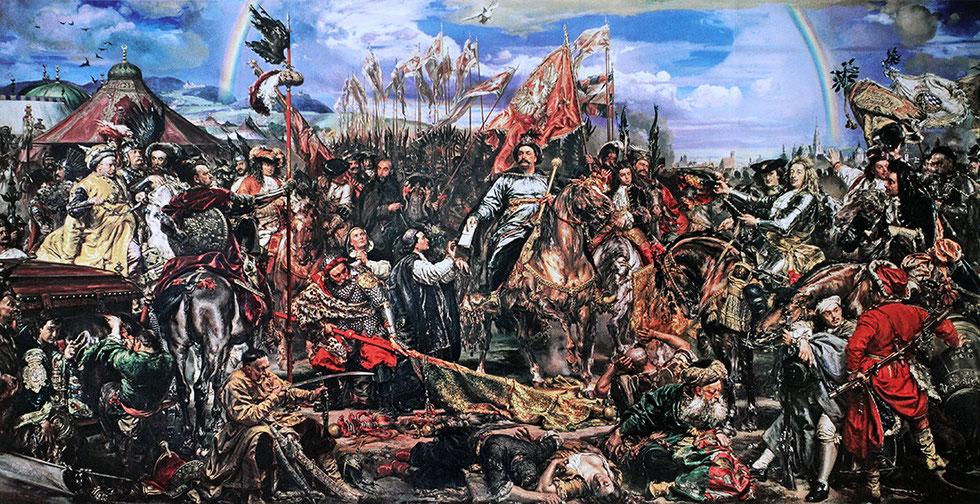 """""""Jan III Sobieski bei Wien""""-Gestickte Version.  Foto: Jaroslaw Miernik"""