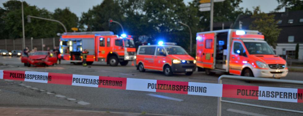 03.07.2015 - Schwerer Verkehrsunfall nach Rotlichtfahrt.
