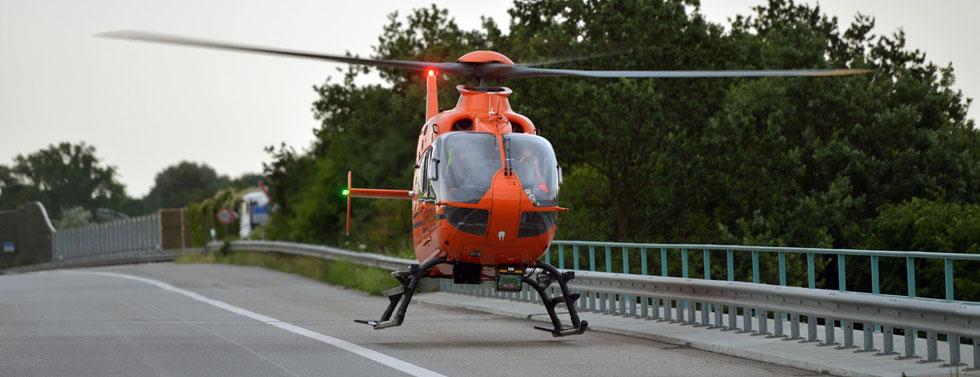 23.07.2015 - Motorradunfall auf der A1.