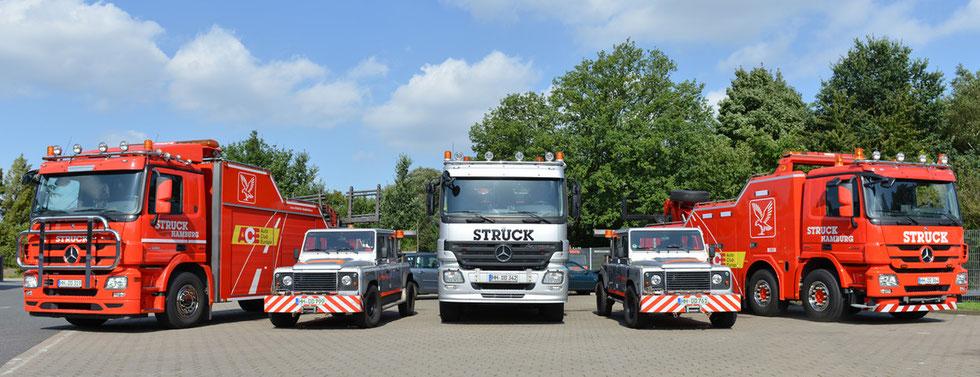 Abschleppdienst - Unterwegs mit Struck-Hamburg.