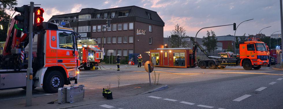 06.08.2015 - Billbrook - Gefahrgutaustritt - Giftwolke in Hamburg.