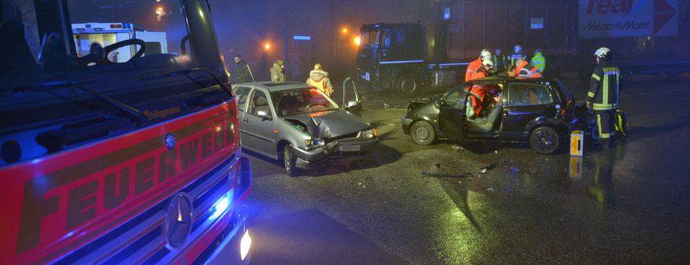 11.01.2016 - Verkehrsunfall in Oststeinbek.