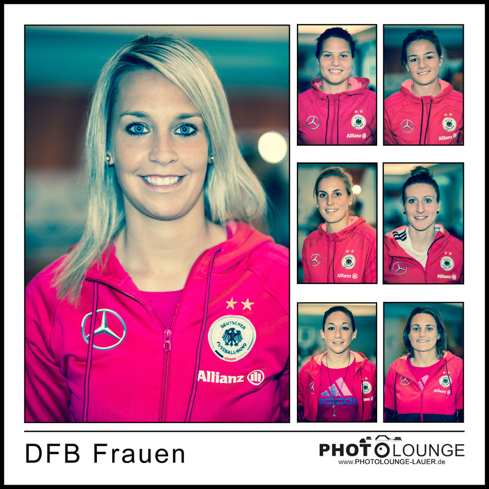 DFB Frauen: Lena Goeßling, Dzsenifer Marozsan, Lena Lotzen, Jennifer Cramer, Anja Mittag, Nadine Keßler, Nadine Angerer