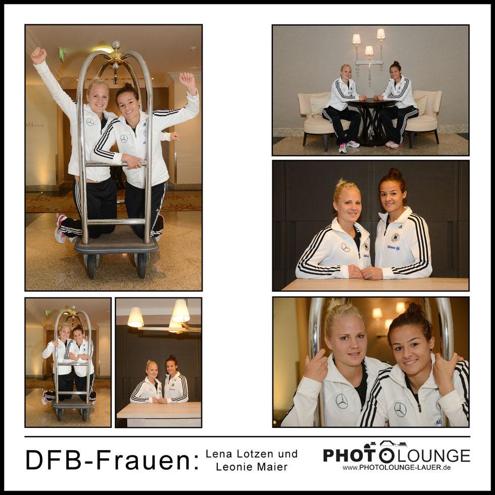 Lena Lotzen und Leonie Maier beim Fotoshooting im Hilton Hotel in München