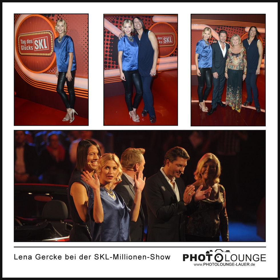 Lena Gercke bei der SKL-Millionen-Show