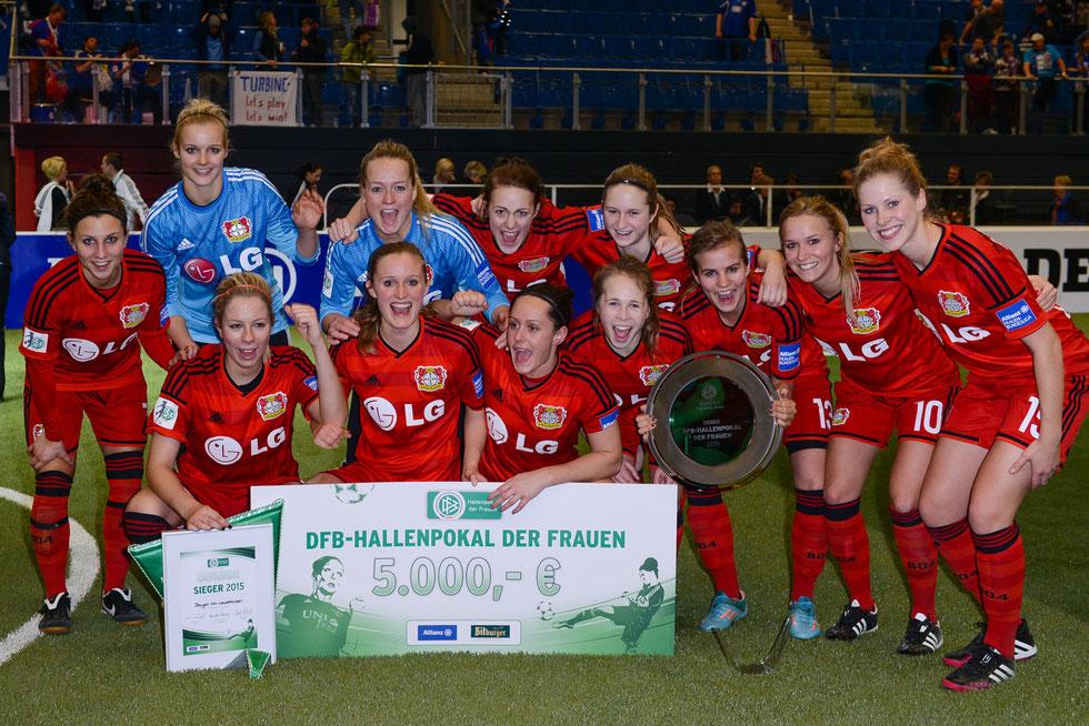 Sieger beim DFB Hallenpokal der Frauen 2015: Bayer Leverkusen