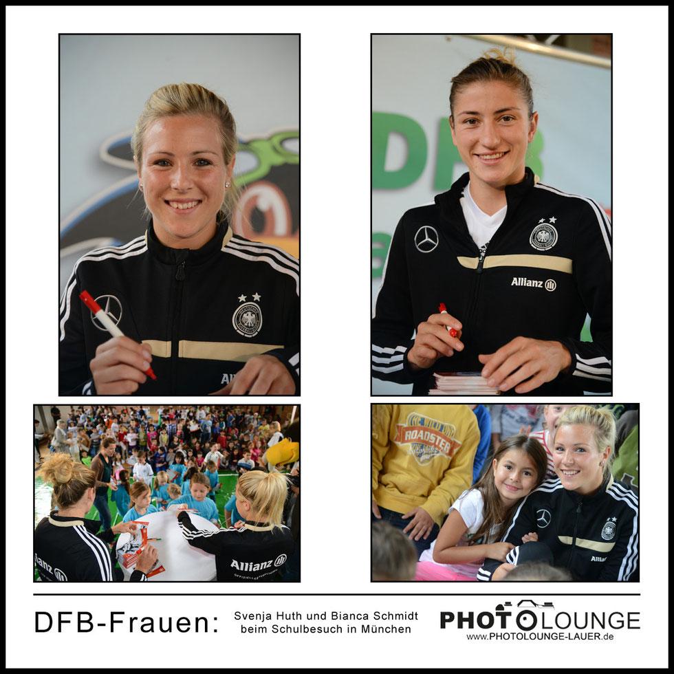 Schulbesuch von Svenja Huth und Bianca Schmidt in München