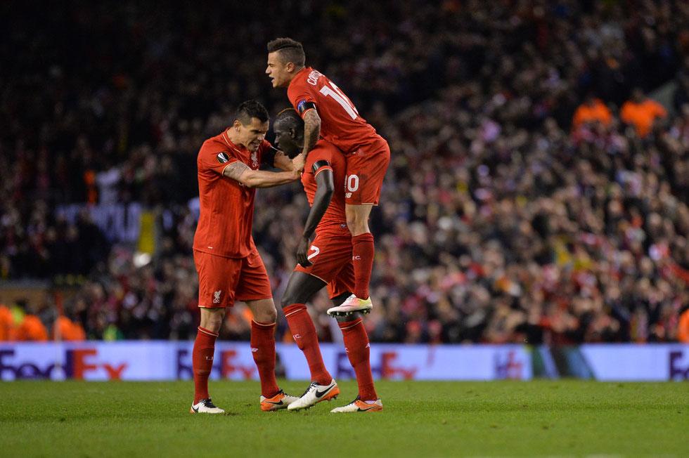 Jubel beim FC Liverpool nach einer grandiosen Aufholjagd im Anfield Stadium