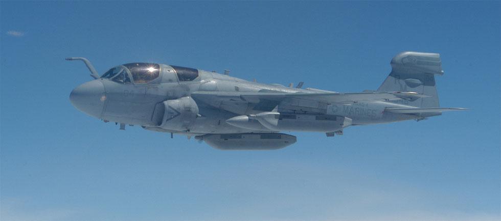 "EA-6B Prowler del VMAQ-4 ""Sea Hawks"" / © USMC"