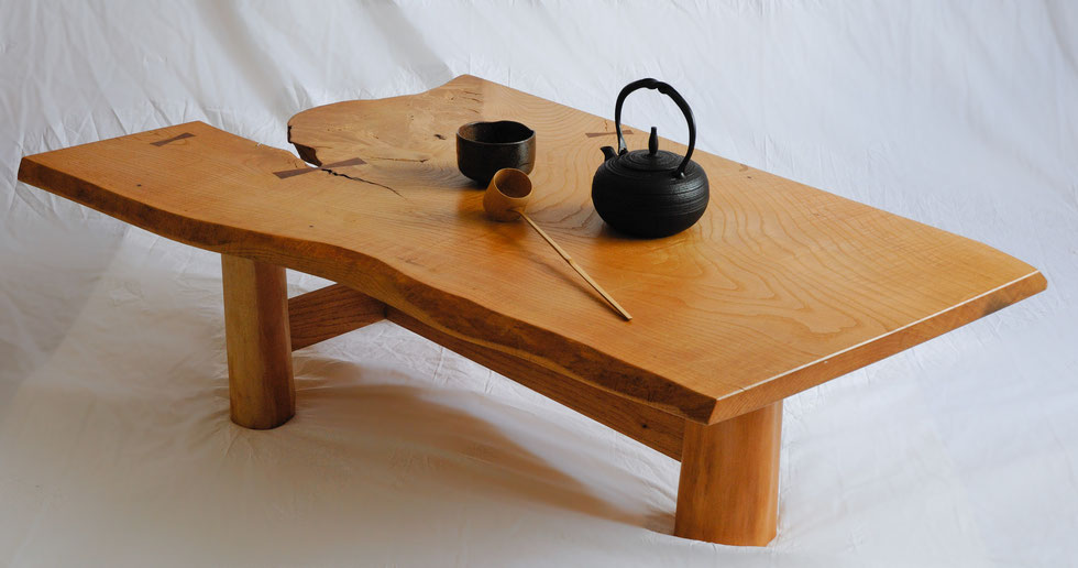 Japanese style natural tea table
