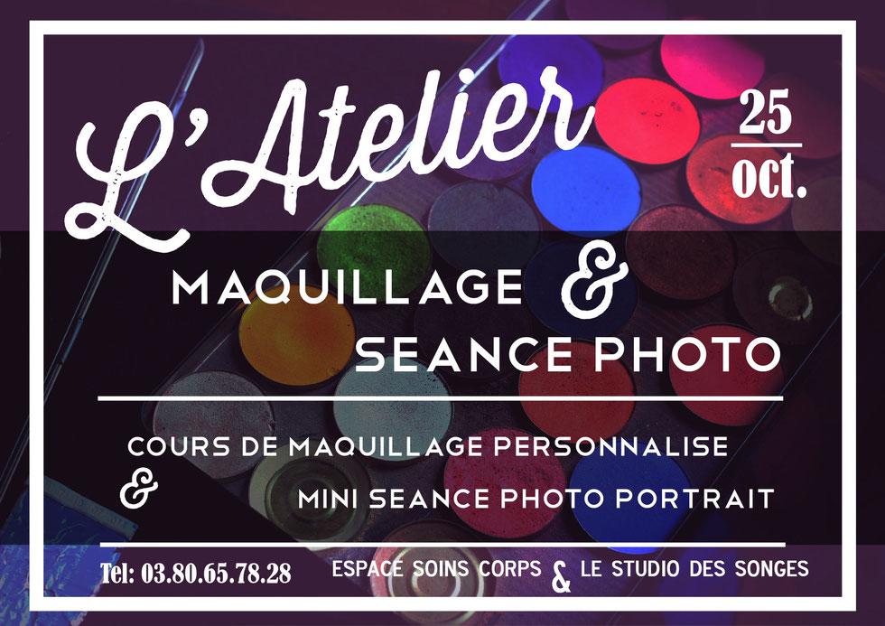 Atelier Maquillage & mini séance photo avec Espace Soin et Corps & Le Studio Des Songes 25 octobre 2014 à Dijon