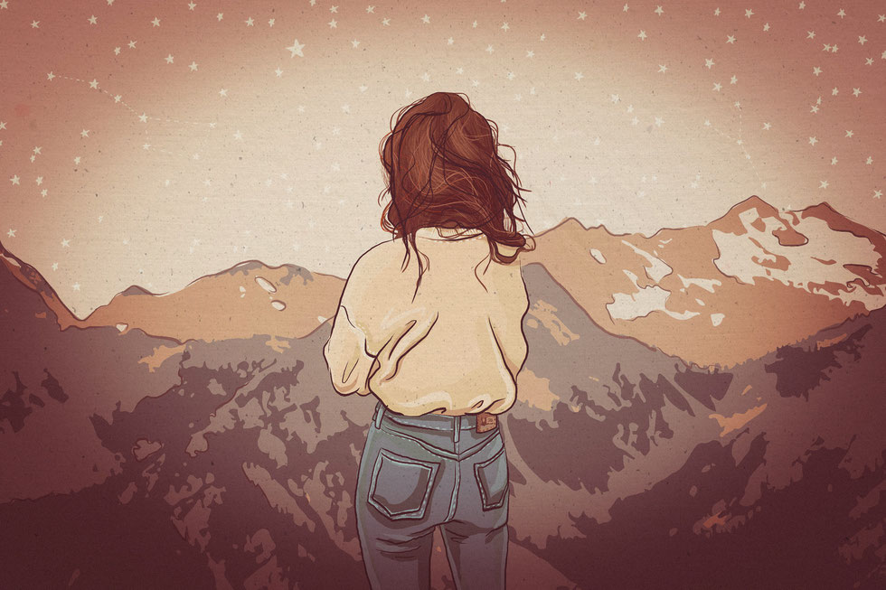 Mountain View, Digitale Illustration, (c) Felice Vagabonde, Illustration aus Hamburg, 2016