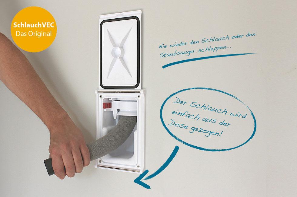 schlauchvec zentralstaubsauger saugvec staubsauganlagen zentralstaubsauger. Black Bedroom Furniture Sets. Home Design Ideas