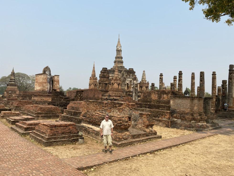 Der Autor, März 2020, Historical Park Sukhothai