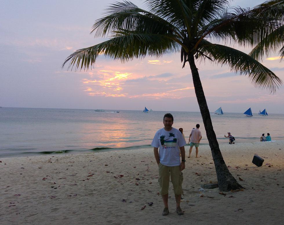 Der Autor März 2017, Boracay, Philippinen
