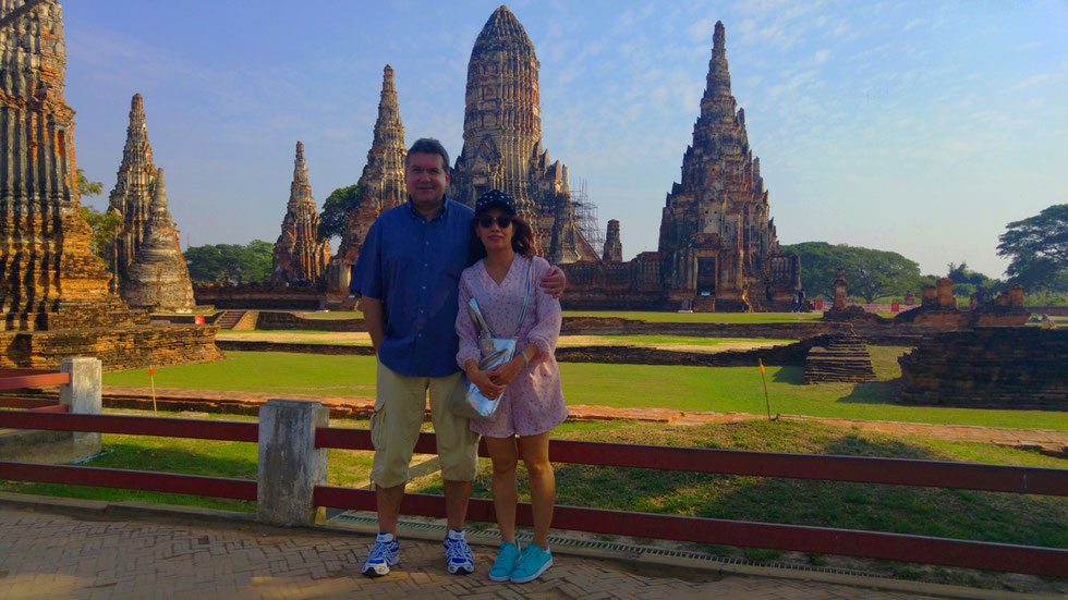 Der Autor mit thailändischer Freundin, Ayutthaya