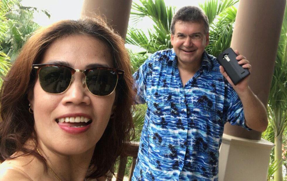 Der Autor (rechts), Januar 2018