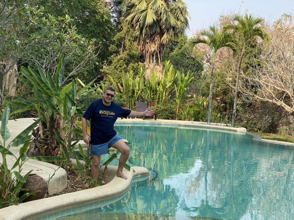 Der Autor, März 2020, Lampang River Lodge, Lampang