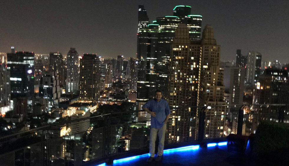 Der Autor, Zoom Sky Bar, Anantara Sathorn Bangkok Hotel, Januar 2019