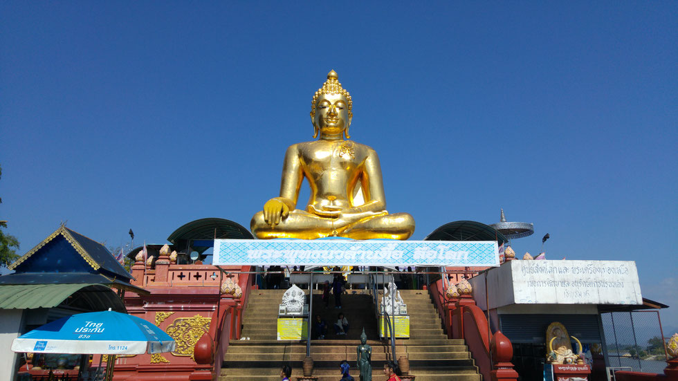 Golden Buddha Statue at the Golden Triangle