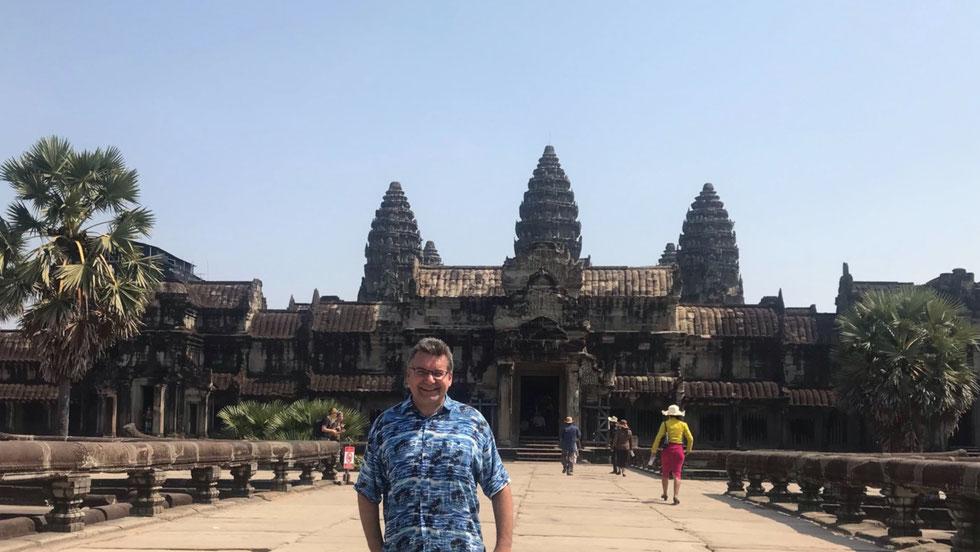 Der Autor, Angkor Wat, Kambodscha, Januar 2019