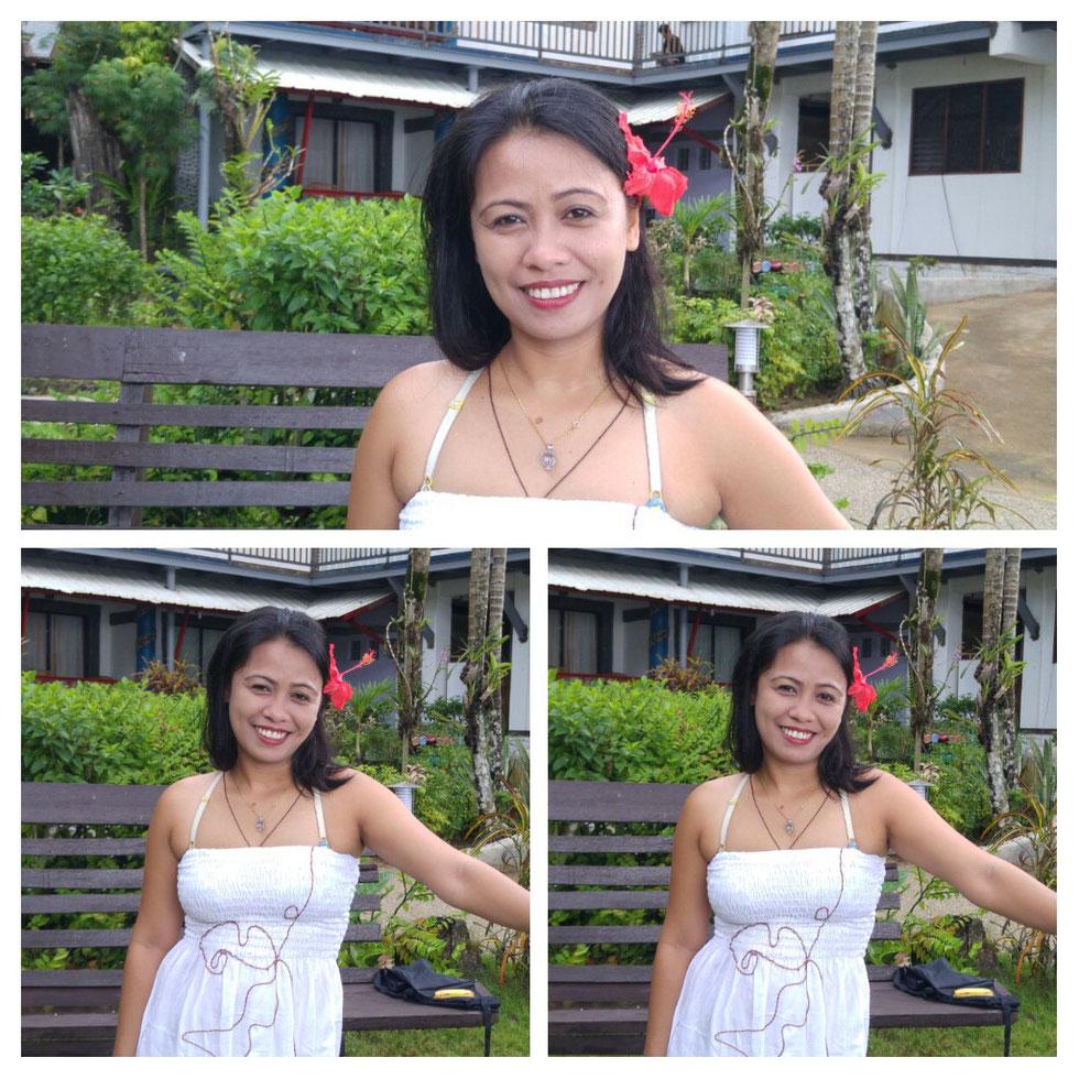 Meine philippinische Freundin. Wir waren wieder auf der wunderschönen Insel Palawan wie schon im vorigen Jahr; 2017 auch schon zusammen auf Boracay
