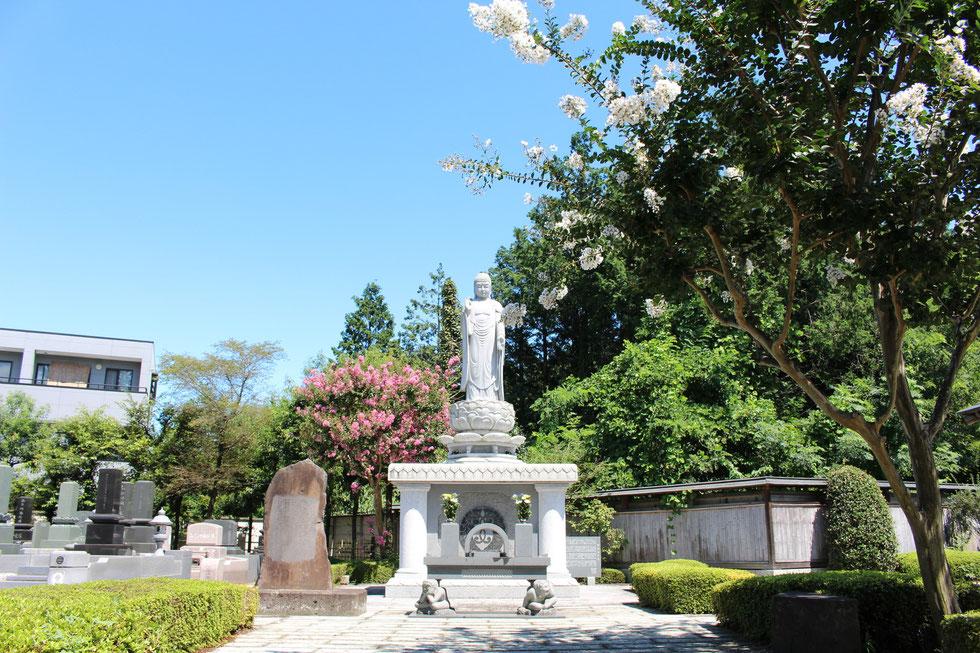 季節の木々と永代供養墓