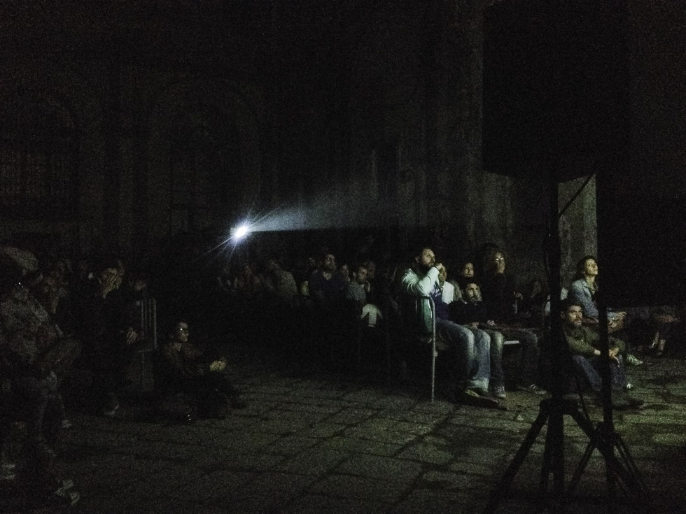 The Auditorium: an open air film festival in Italy taking place in the ruin of an (very) old prison, sitting on old prison beds, watching new films. Great moment, only had my iPhone4 with me, but tried to capture that special moment