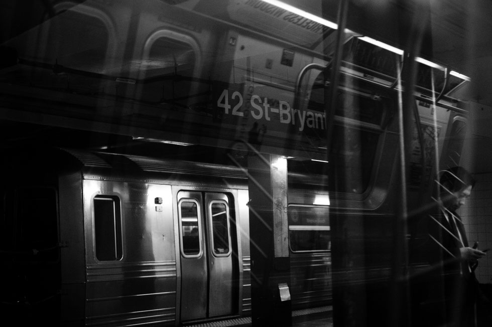 NY Subway: three stories in one picture; scene as seen, close to zero post processing