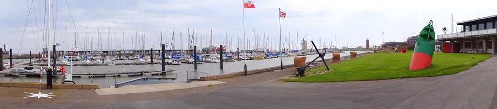 Yachthafen in Cuxhaven des SVC. Mit Slipanlage für Boote bis vier Tonnen