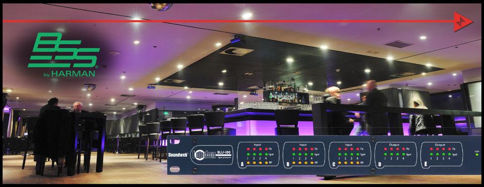 Procesador de audio, BSS, dbx, Tesira forte, instalación de audio